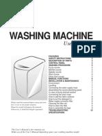 Samsung Powerdrum Washing Machine User Manual
