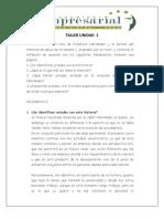 TALLER UNIDAD 1 (1) Pensamiento Empresarial