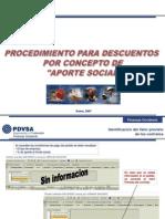 APORTE SOCIAL Pasos Para Visualizacion Del Valor Previsto