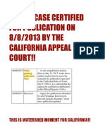 GLASKI CASE CERTIFIED BY CALIFORNIA APPEAL COURT ON 8/8/2013!!!  HOMEOWNERS PAY ATTENTION