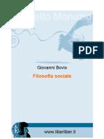 Filosofia Sociale - Bovio, Giovanni