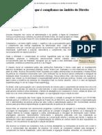 Direito de Defesa O que é compliance no âmbito do Direito Penal_