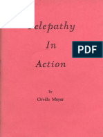Orville Meyer - Telepathy in Action