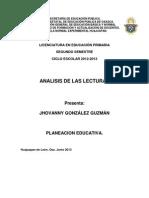 Analisis de Las Lecturas (2)