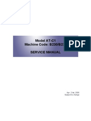 Ricoh MP c2500 Service Manual | Image Scanner | Photocopier