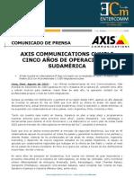 Axis Communications cumple cinco años de operación en Sudamérica