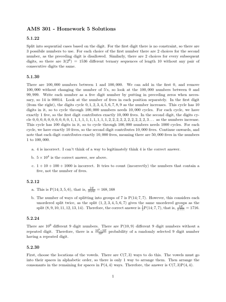 ams 301 homework solutions