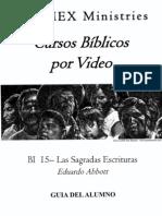 BI 15 - Las Sagradas Escrituras - Alumno