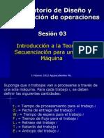 Sesión 03 (Secuenciación 1 máquina)