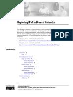 Deploying IPv6 in the Branch