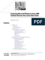 Deploying Microsoft Windows Server 2008 Terminal Services in a Cisco Data Center
