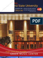 2013-14 MasterCard Performance Series Single Ticket Booklet