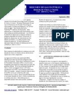 Agencia para Sustancias Tóxicas Dioxido de cloro, Clorito EEUU