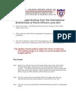 IBPO Budget Talking Paper
