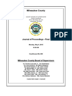 Milwaukee County Board Minutes 5-6-13