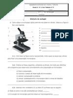 Miniteste microscopio 5º ano