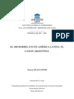 El Microrrelato en America Latina El Canon Argentino