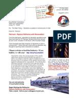 Letter to Rex Tillerson 13-08-08 Utah Tarsands Not Welcome