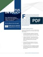How Well Do Federal Agencies Use Regulatory Impact Analysis?
