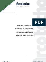 CALCULO ARCOTECHO