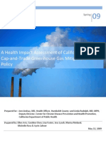 A Health Impact Assessment of California's Cap-and-Trade Greenhouse Mitigation Policy