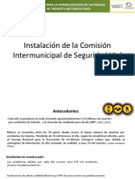 Instalación Comisión Intermunicipal de Seguridad Vial (7 de Agosto, 2013)