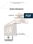 Aspects and Contract And Negligence for Business