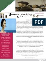 women seeking god newsletter--august 2013