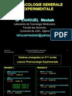 Chapitre 1 Notions générales pharmacologie