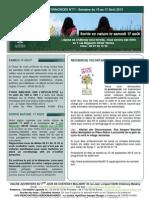 Bulletin d'annonces N° 71 Semaine du 10 au 17 aout 2013