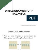 Direccionamiento IPV4 y V6