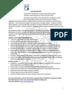 SLI GA Job Description 2013-14