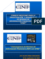 Convergencia de NIF a IFRS