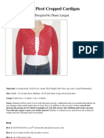 CROCHET - Coral Picot Cropped Cardigan