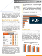 Indicadores de Comercio Exterior del Ecuador en su primer semestre 2013