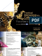 Programa Festival Internacional Cultura Maya