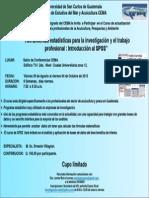 INVITACION curso SPSS (Guatemala).