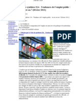 OCDE-Note de synthese 214 - Tendances de l'emploi public-2-11-2011 - Centre d'Analyse Strategique