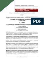 Ley Organica de La Asamblea Legislativa Del DF