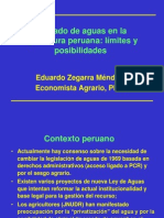 Mercado de Aguas en La Agricultura Peruana