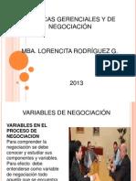 Variables en El Proceso de Negociacion(1)