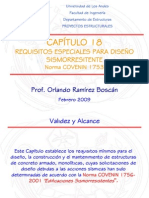 Clase de REQUISITOS ESPECIALES PARA DISEÑO SISMORRESITENTENorma COVENIN 1753