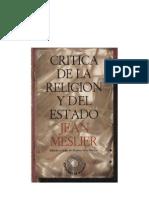 Meslier Jean - Critica de La Religion Y Del Estado