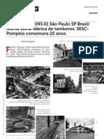 Www.vitruvius.com.Br Minhacidade 093 01 s o Paulo Sp Brasil Numa Velha f Brica de Tambores Sesc Pompeia Comemora 25 Anos