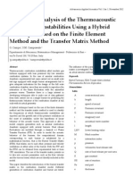 Eigenmode Analysis of the Thermoacoustic Combustion Instabilities Using a Hybrid Technique Based on the Finite Element Method and the Transfer Matrix Method