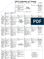 07 July 2013 Calendar of Events 3