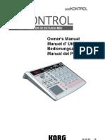 Korg Pad Kontrol Spanish