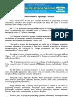 aug09.2013_bCriminalize economic espionage - Arroyos
