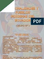 Pueblos y Nacionalidades Del Ecuador