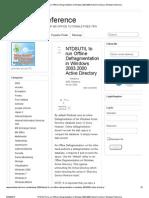 Defragment Database AD